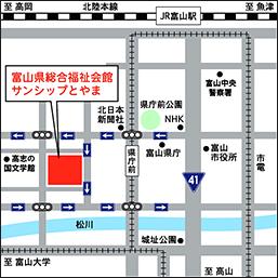 地図 富山県介護実習・普及センター地図